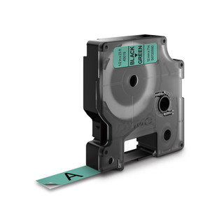 Dymo D1 Black-on-Green Labels