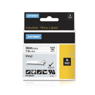 Dymo Rhino 1805430 White Vinyl