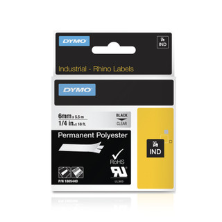 Dymo Rhino 1805440 Clear Permanent