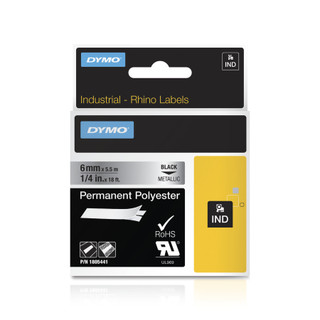 Dymo Rhino 1805441 Metallic Label