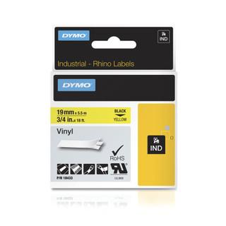 Dymo Rhino 18433 Yellow Vinyl