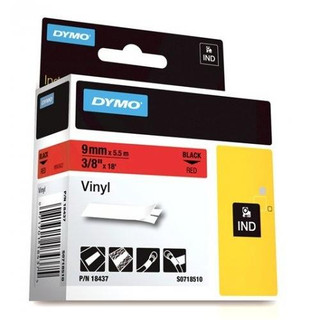 Dymo Rhino 18437 Red Vinyl Labels