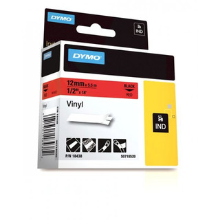 Dymo Rhino 18438 Red Vinyl Labels
