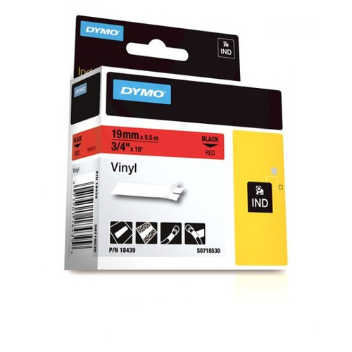 Dymo Rhino 18439 Red Vinyl Labels