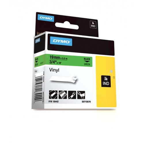 Dymo Rhino 18442 Green Vinyl Labels