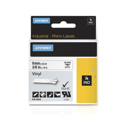 Dymo Rhino 18443 White Vinyl Labels