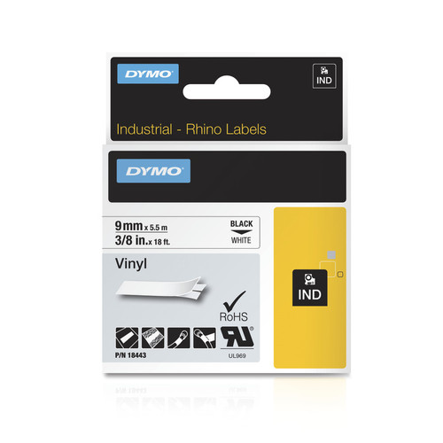 Dymo Rhino 18443 White Vinyl Labels