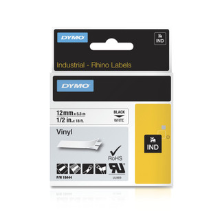 Rhino 18444 White Vinyl Labels