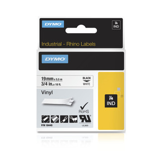 Dymo Rhino 18445 White Vinyl Label