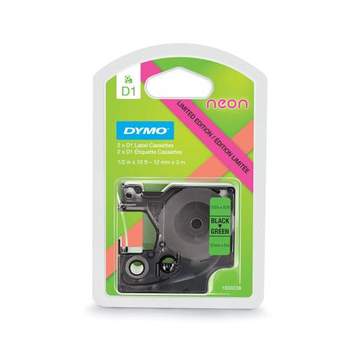 Dymo 1933238 D1 Neon Green Pink