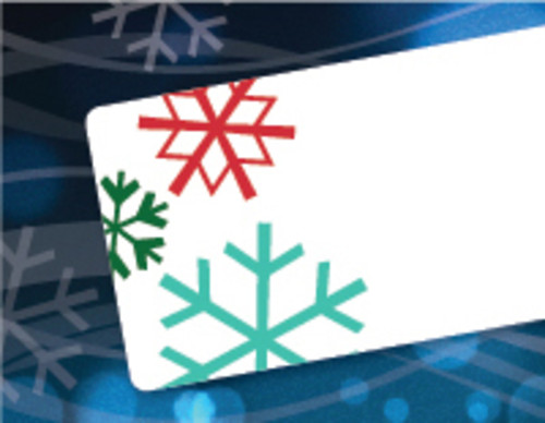 Dymo 30396 Snowflake Holiday Labels