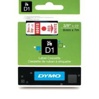 Dymo 40915 D1 Label Red on White