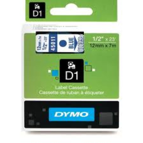 Dymo 45011 D1 Label Blue on Clear