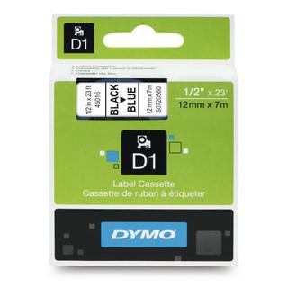 Dymo 45016 D1 Tape Black Blue Label