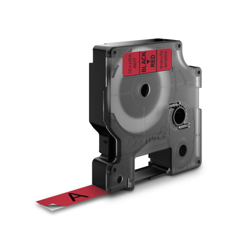 Dymo 45017 D1 Label Tape Black Red