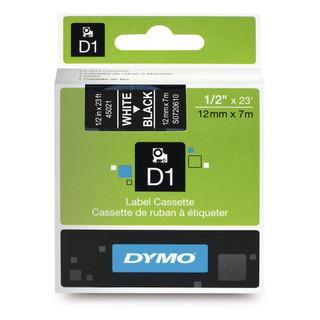 Dymo 45021 D1 Label White on Black