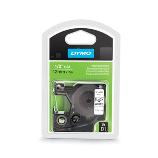Dymo 45113 D1 Label Black on White