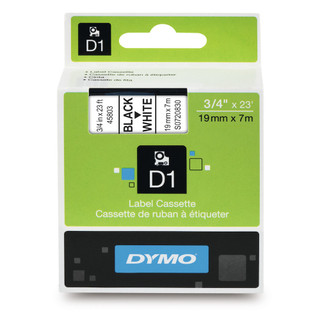 Dymo 45803 D1 Label Black on White