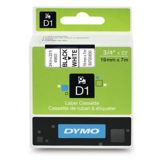 Dymo 45803 D1 Label Black on White