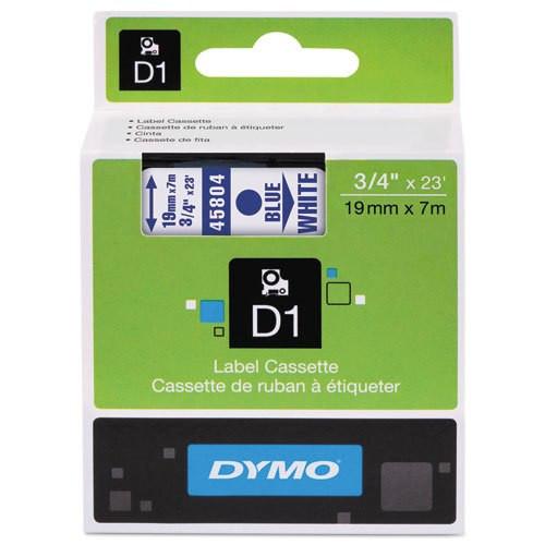 Dymo 45804 D1 Label Tape Blue White