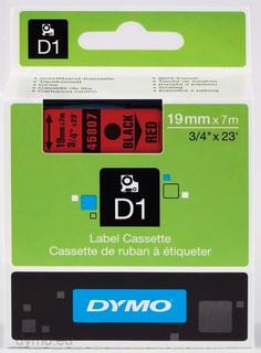 Dymo 45807 D1 Label Tape Black Red