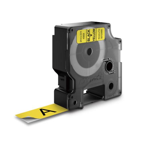 Dymo 45808 D1 Black on Yellow Label