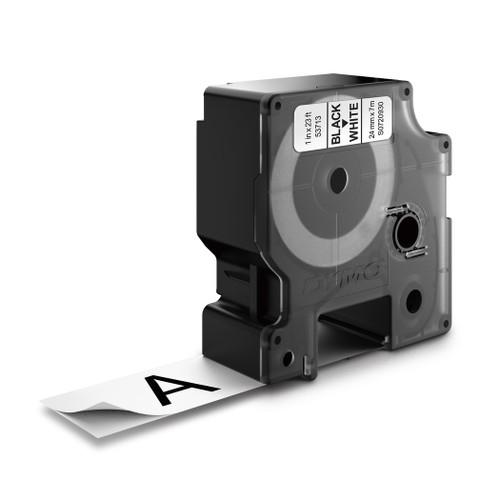 Dymo 53713 D1 Black on White Label