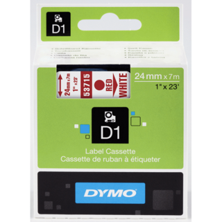 Dymo 53715 D1 Label Tape Red White