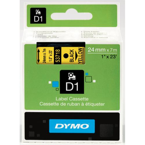 Dymo 53718 D1 Label Black on Yellow