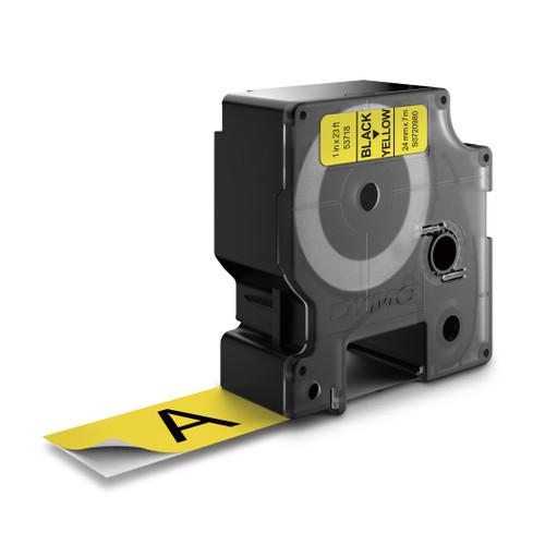 Dymo 53718 D1 Black on Yellow Label