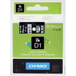 Dymo 53721 D1 Label White on Black