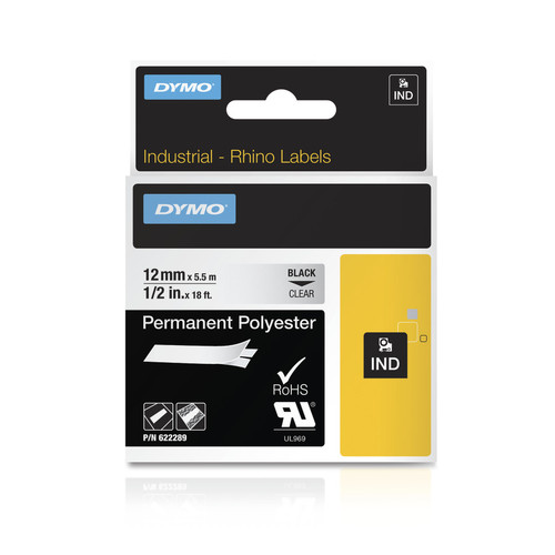 Dymo Rhino 622289 Clear Permanent